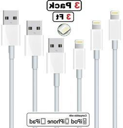 3PACK- 3ft For iPhone 6 7 8 Plus iPhone 11 X XS Lightning US