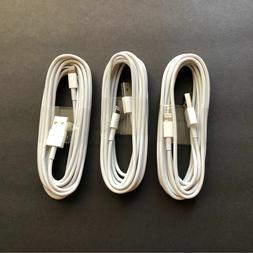 3X 10ft USB Charger Cable Data Cord foit iPhone 5 i Phone 6