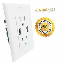 Teklectric - 4.0A Ultra High Speed Dual USB Charger Outlet /