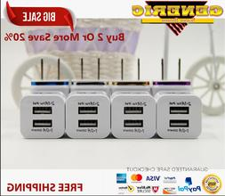 4x  3.1 Amp 2-port 5V USB Universal Travel Wall Charger For