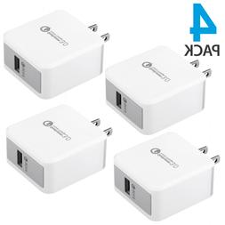 4-PACK USB Wall Charger Plug Fast Charging Home Power Adapte