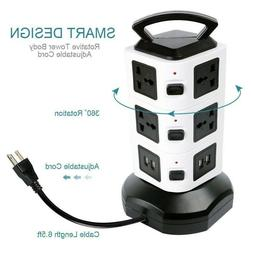 4 Port Fast USB Charging Power Strip Adapter Wall Travel Des
