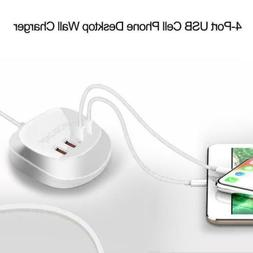 4 Port Smart USB Charger Cell Phone Desktop Wall Travel Char