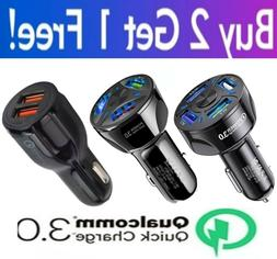 4 Port 2 Port USB QC 3.0 Fast Car Charger for Cell Phone Sam