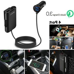 4 Port USB Passenger Car Charger Extending USB HUB Front And