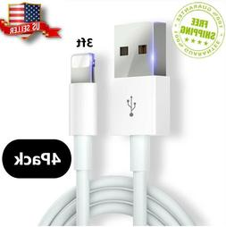 4Pack Data USB Cable for lightning cable fast charger for Ap