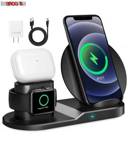 5 Core 3in1 Qi Wireless Fast Charger Dock Stand for Apple Wa