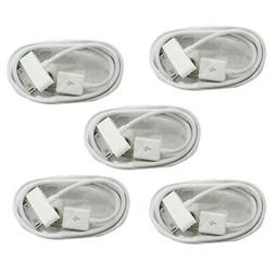 5× LOT USB DATA Sync CHARGER CABLE CORD for APPLE iPhone 4