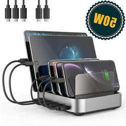 Seenda 5 port 50W charging station organizer 10A with cables