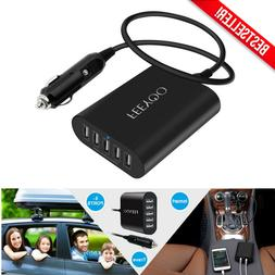 5-Port USB Car Charger Adapter Fast Quick Charge Smart Multi
