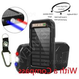 POWERNEWS 500000mAh Dual USB Waterproof Solar Charger Solar