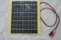 5WATT 18VDC POLY SOLAR 5W PANEL BATTERY CHARGER - USE FOR CH
