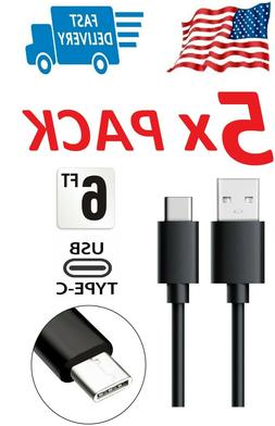 5X 6 FOOT EXTRA LONG CHARGING CABLE FAST RAPID CHARGER FOR