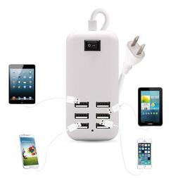 6 Ports Multiple Wall USB Charger Smart Adapter Mobile Phone