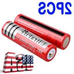 6000mAh 2X 18650 Battery 3.7V Li-ion Rechargeable Charger Fo