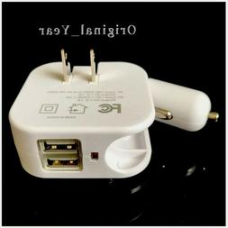 Car Wall Charger Dual USB 2.1A For iPhone Samsung LG HTC Uni