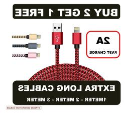 Heavy Duty Braided USB Charger Charging Lead Data Cable 2M 3