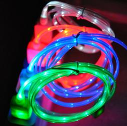 LED light-up charger cable FOR apple iPhone 8 7 6 plus 5S 4