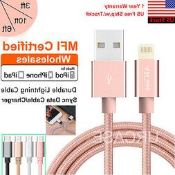 LOT MFI Certified Apple Lightning Data Sync Cable Charger f