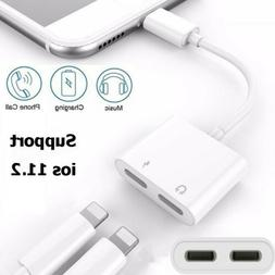 Lightning Adapte Splitter Cable For iPhone X 7 8 Plus Dual C