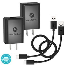 Adaptive Fast 15W Kit for Motorola XT1527 with Quick Charge Wall+Car+MicroUSB Cable gives 2x faster charging! Black