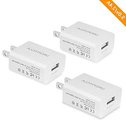 Wall Charger, UROPHYLLA USB Wall Charger, 12W 2.4A Mini Port