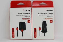 Verizon Type C Home Wall Car Fast Charger Cable Galaxy S9+ N