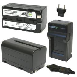 Wasabi Power Battery  and Charger for Sony NP-F730, NP-F750,