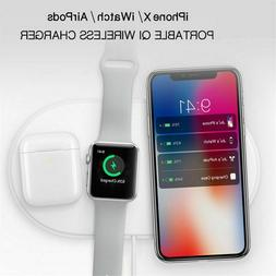 Airpower 3 IN 1 Qi Wireless Fast Charge Pad For Iphone XR X