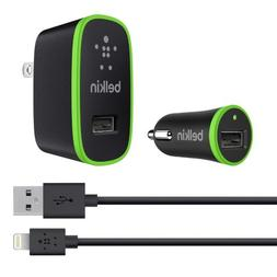 Belkin Apple Certified Charging Kit with Lightning to USB Ch