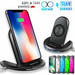 For Apple iPhone 8 Plus Qi Wireless Charger Charging Stand H