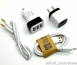 Audio / micro USB cord cable Car & wall charger for Android