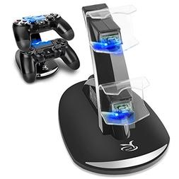 AZsetech Dual USB Charging Charger Docking Station Stand for