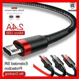 BASEUS Heavy Duty Micro USB Charging Cable Fast Charger Sams