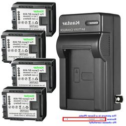 Kastar Battery Wall Charger for Canon BP-808 CG800 Canon VIX