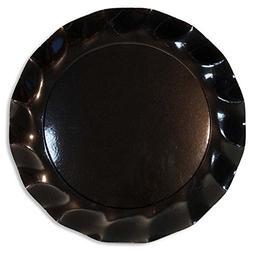 Sophistiplate Black Petal Paper Charger Plates  Fancy Dispos