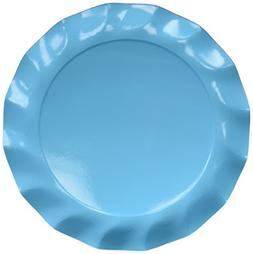 Sophistiplate Blue Green Turquoise Paper Charger Plates - 15