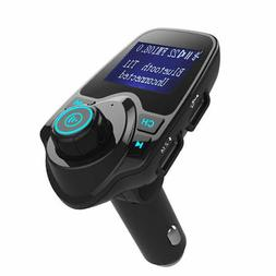 Bluetooth FM Transmitter Radio Adapter Car Kit With 5V 2.1A