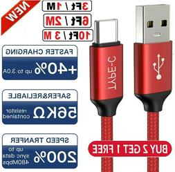 Braided USB C Type-C Fast Charging Data SYNC Charger Cable C
