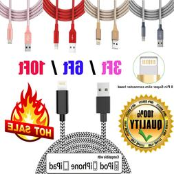 Braided USB Cord For iPhone 6S 7 8 Plus X Xs 11 Pro Charger