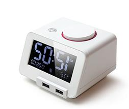 Homtime C1PRO Bedside Alarm Clock with USB Charger and Bluet