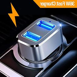 Car Charger, Powerman Quick Charge 3.0 36W Dual USB Car Char