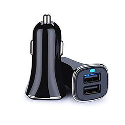 Car Charger, Ououdee 2-Pack Portable 4.8A Rapid Dual USB Por