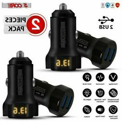 5 Core Car Charger Dual Smart Fast USB Port 4.8A/24W Adapter