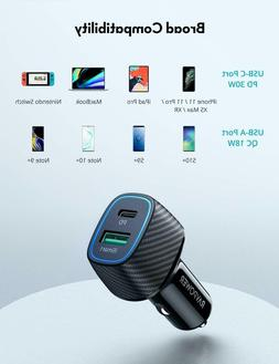 Car Charger USB C PD Fast Car Charger with 30W Power Deliver