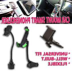 Zone Tech Car Cup Holder CD Slot USB Charger Cell Phone Moun