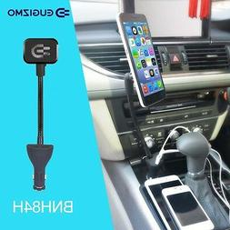 Eugizmo Car Magnetic Phone Holder Mount with Dual USB Charge