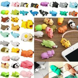 Cartoon Animal Bite USB Charger Cable Phone Protector For Ip