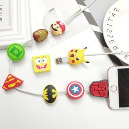Cartoon Silicone Cable Bite Cable Protector for Lightning Ca