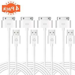 Evol  Certified 6 Feet / 2 Meters 30 Pin to USB Sync and Cha